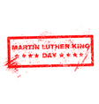 Martin Luther King Day grunge rubber stamp vector image vector image