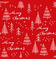 merry christmas and christmas tree seamless vector image vector image