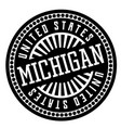 michigan black and white badge vector image vector image