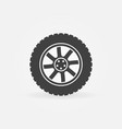 modern car wheel icon or logo element vector image vector image