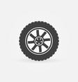 modern car wheel icon or logo element vector image