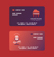 musical instruments set manager business cards vector image