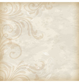 old floral background vector image vector image