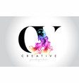 ov vibrant creative leter logo design with vector image vector image