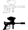 paintball gun vector image vector image