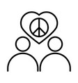 people peace love heart together human rights day vector image vector image