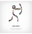 people sports archery vector image