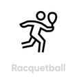 racquetball sport icon vector image