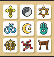 religion icons 1 vector image