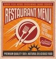 Retro poster template for fast food restaurant vector image vector image