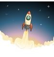 Rocket start to open space vector image vector image