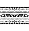 scandinavian valentines day folk pattern vector image vector image