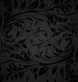 Seamless Black Floral Wallpaper vector image vector image