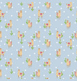 seamless pattern with cute alpacas and vector image vector image