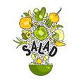 set fresh vegetables vector image