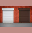 set of roller shutters on window vector image vector image