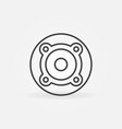 speaker thin line concept round icon vector image