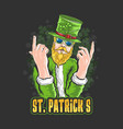 st patricks day artwork with editable lay vector image vector image