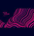 stripe neon optical fluid wave duotone geometric vector image vector image