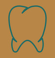 teeth icon dentist flat tooth for mobile user vector image vector image