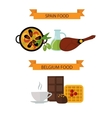 Top view showing European food and delicious vector image