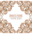 vintage border frame engraving with retro ornament vector image vector image