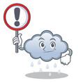 with sign rain cloud character cartoon vector image