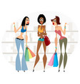 women with shopping vector image vector image