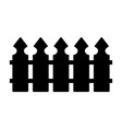 wooden fence simple silhouette design isolated on vector image vector image