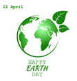 world earth day vector image