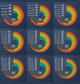 set of presentation informative infographic circle vector image