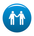 agreement icon blue vector image vector image