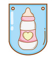 baby bottle cartoon vector image
