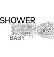 baby skin care products text word cloud concept vector image vector image