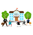 back to school parents lead vector image