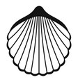 beautiful shell icon simple style vector image