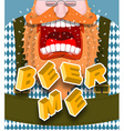Beer me shout Angry and aggressive man shouts Red vector image vector image