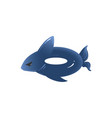 blue shark inflatable ring - pool water safety vector image