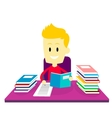 Boy Studying Doing His Homework vector image