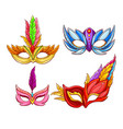 bright face masks for venetian carnivals vector image vector image