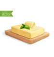 butter realistic composition vector image vector image