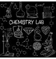 Chemistry lab sketch set vector image vector image