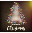 Christmas tree template EPS 10 vector image vector image