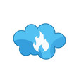 cloud fire blue vector image vector image