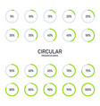 collection circular futuristic progress vector image vector image