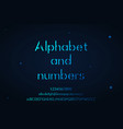 complete lower and upper case alphabet and numbers vector image