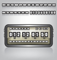 Countdown Timer and Date vector image vector image