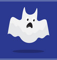cute ghost monster happy halloween vector image vector image