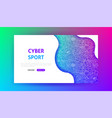 cyber sport landing page vector image vector image