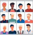 different national men set people images vector image